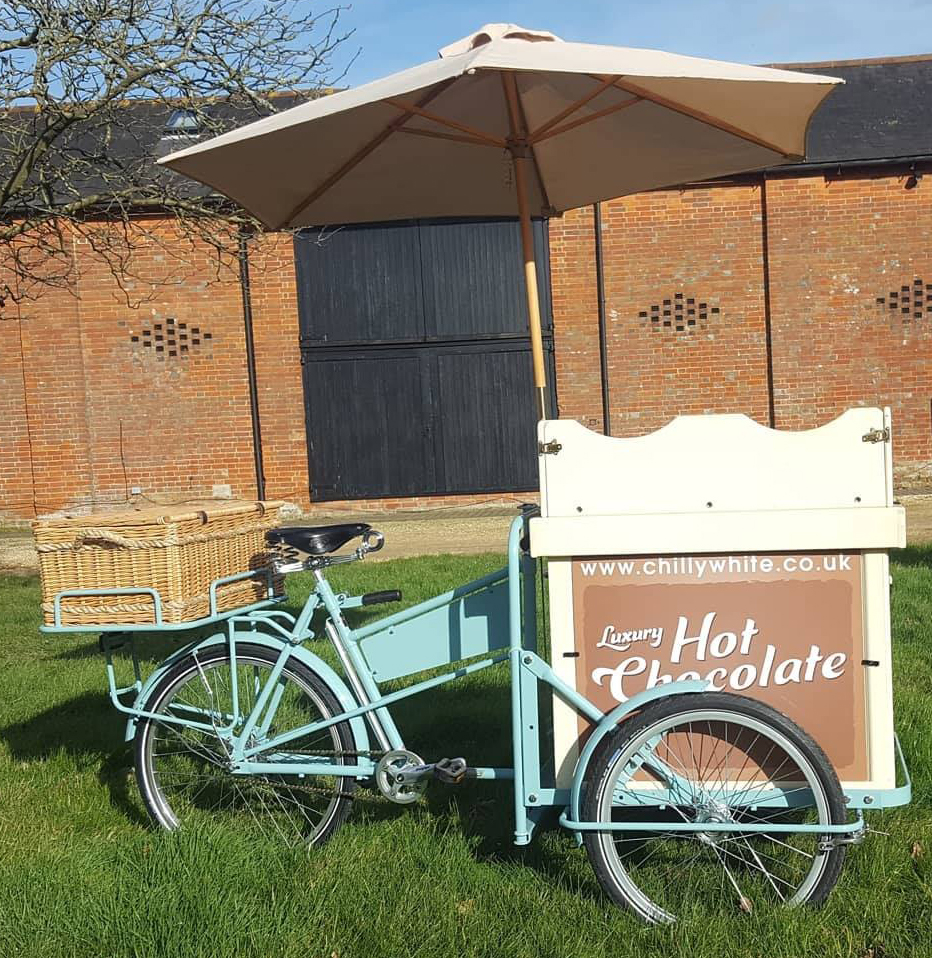 Luxury Hot Chocolate Tricycle Hire Pimms Bike Corporate